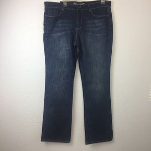 New York and co NWT low rise boot cut jean Size 14